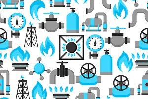 Natural gas patterns.