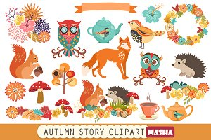 AUTUMN STORY clipart