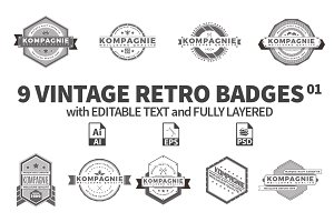 Vintage Retro Badges 01