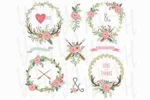 Tribal Floral Wreath Collection