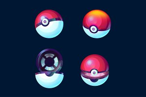 Game balls set - pokeball