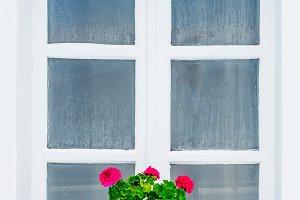 Window in Santorini, Greece