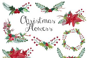 Christmas wreaths clip art
