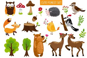 Cute forest set