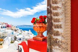 View in Santorini, Greece