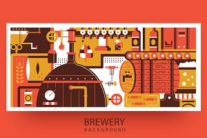 Brewery abstract background