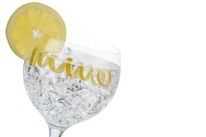 Classic gin and tonic with a lemon twist