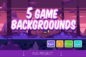5 Game Seamless backgrounds #2
