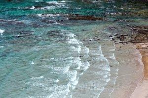 Ocean surf waves.