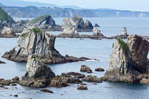 Rocks near Silencio beach (Spain).