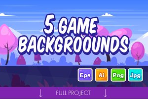 5 Game Seamless backgrounds #1