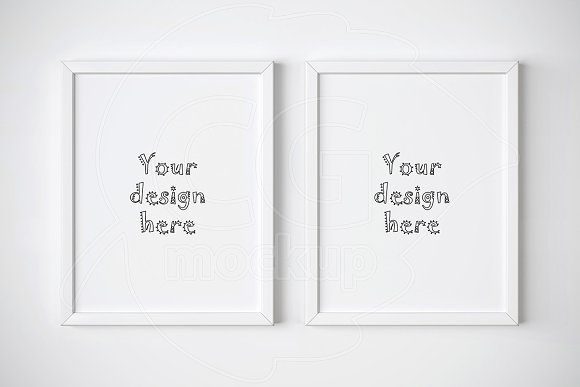 Set Of Two Minimal Frames Mockup Product Mockups Creative Market