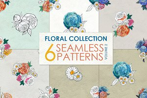 Watercolor rose patterns Vol 2