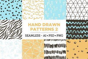 10 Seamless Hand Drawn Patterns v.2