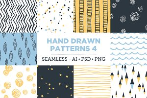 10 Seamless Hand Drawn Patterns v.4