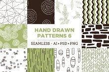 10 Seamless Hand Drawn Patterns v.6