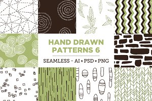 10 Seamless Hand Drawn Patterns v.6
