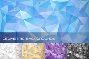 Set of 5 geometric backgrounds