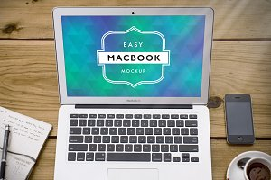 Mockup Macbook Air 9