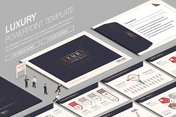 Luxury powerpoint template vol2 presentation templates creative luxury powerpoint template vol2 presentation templates creative market toneelgroepblik Images