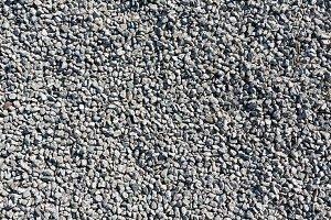 Gray gravel background.