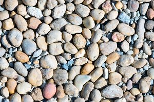 Colorful pebble closeup.