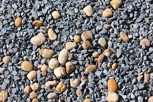 Gray gravel background.