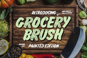 Grocery Brush & Hand (PLUS Extras)