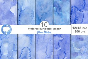 Digital Paper - Blue Water