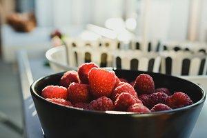 Delicious Raspberries for Dessert