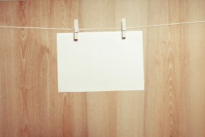 Paper on the clothesline