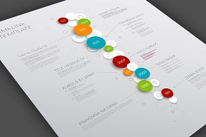 Timeline Template with Bubbles