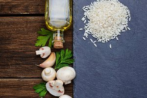 Ingredients for risotto