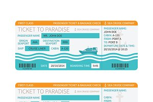 Sea cruise boarding pass