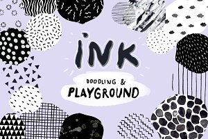 Ink-Graphic/Doodle Seamless Patterns