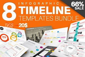 8 Modern Timeline Templates Bundle