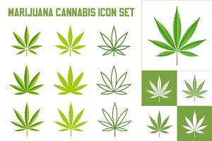Vector Cannabis/Marijuana Icon set
