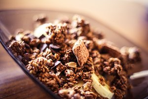 Healthy Müsli Breakfast Detail