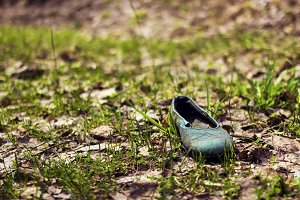 Post-apocalyptic. Children's sandals