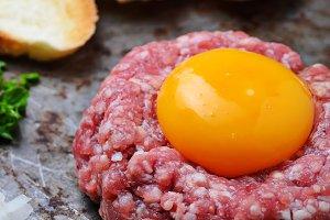 Fresh beef tartar