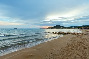 Sunrise on beach (Zakynthos, Greece)