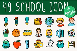 Shool doodle icon