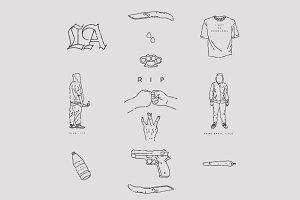 Gang Life Vector Pack