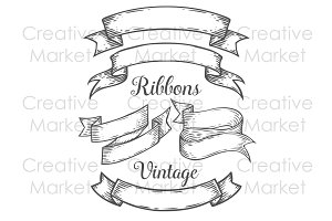 Ribbons vintage set