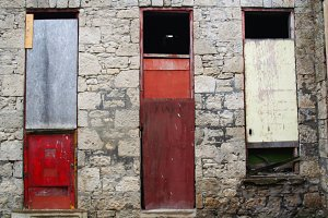 3 Boarded Windows