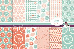 Pink Lemonade Digital Lemon Patterns