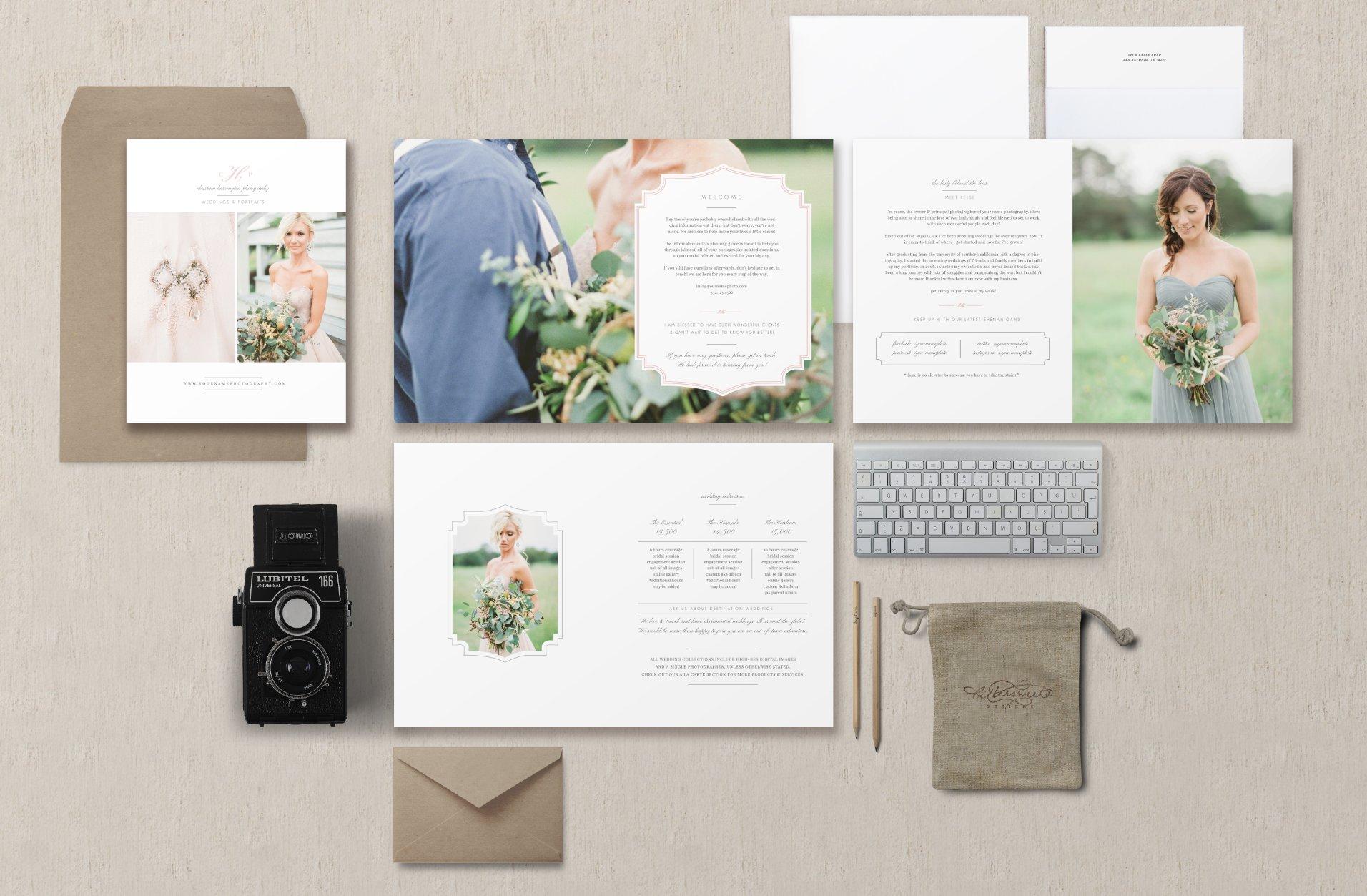 Wedding Photographer Magazine ~ Brochure Templates ~ Creative Market
