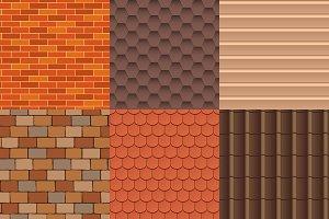 Roof texture vector set