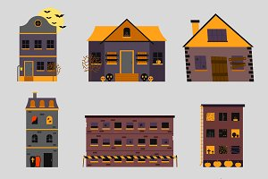 Horror house vector