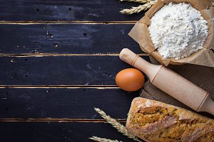 Baking ingredients and bread